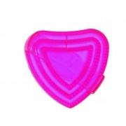 Love Heart Plastic Curry comb