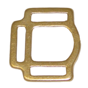 "Halter Squares 3 Loop 1"" Brass"