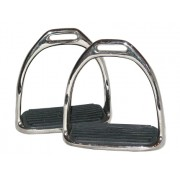 Stirrup Irons 2Bar Nickel Plated With Treads