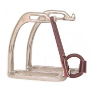 Stirrup Irons Peacock Nickel Plated